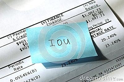 Credit card IOU