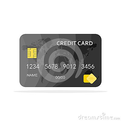 Free Credit Card Isolated. Vector Illustration Stock Photo - 107724380