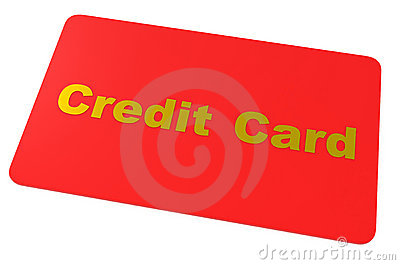 Credit Card Isolated On White Stock Photos - Image: 15561953