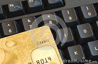 Credit card an keyboard