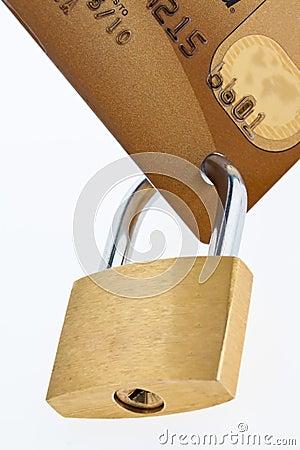 Credit Card and lock.