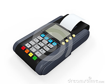 Credit Card Machine Isolated