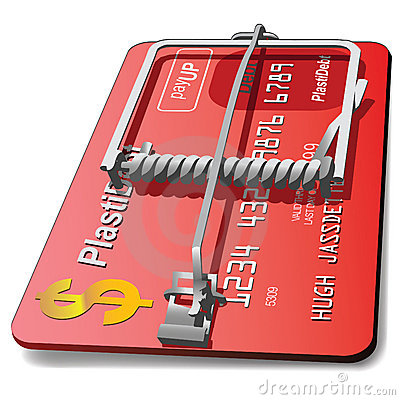 Free Credit Card Mouse Trap Royalty Free Stock Image - 4528046