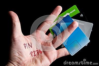 Credit card pin