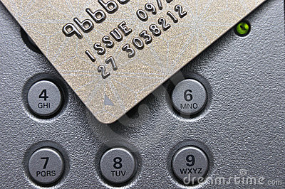 Credit card and push button