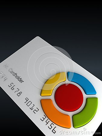 Credit card-remote with buttons