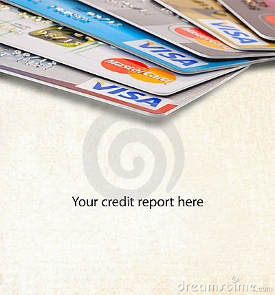 Credit card reports Editorial Stock Image