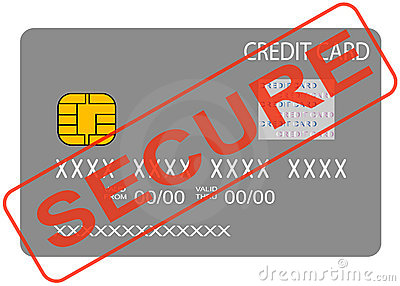 Credit card secure concept