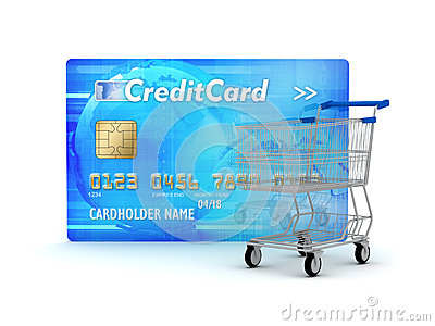 Credit card and shopping cart