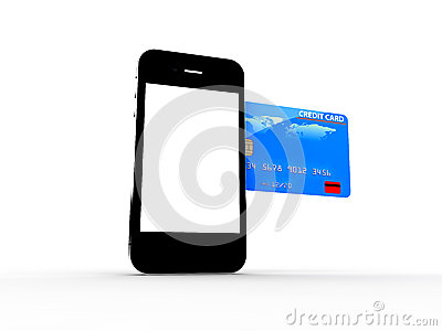 Credit card and smartphone