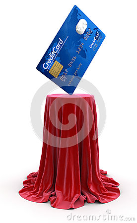 Credit Card on Table (clipping path included)
