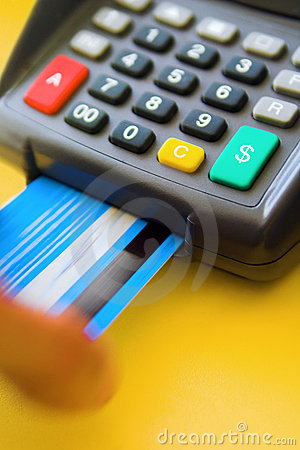 Free Credit Card Terminal Royalty Free Stock Photos - 4580998