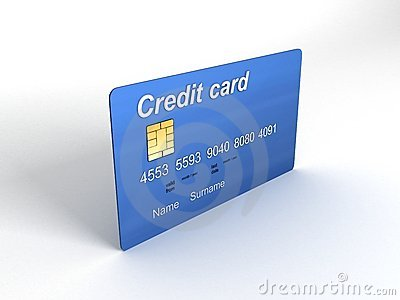 Credit card in three dimensions