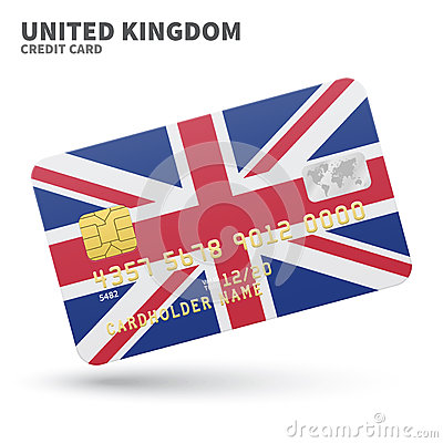 Credit Card With United Kingdom Flag Background Stock ...
