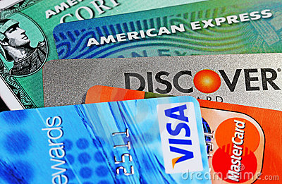 Credit Cards Editorial Stock Photo