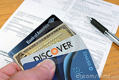 Credit Cards Editorial Stock Image
