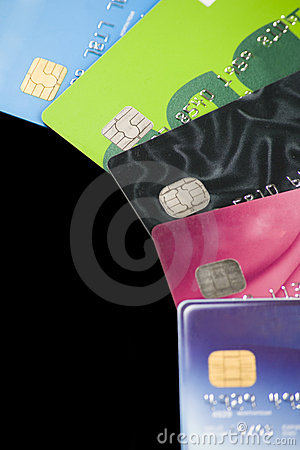 Free Credit Cards. Stock Image - 7587891
