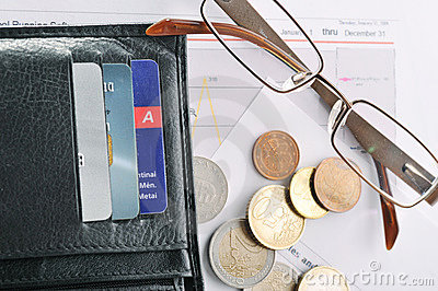 Credit cards and purse