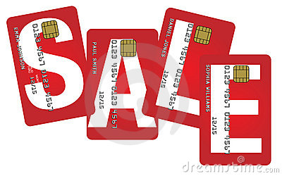 Credit Cards With Sale Sign