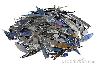 Credit cards shredded