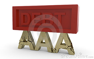 Credit rating collapsing under debt