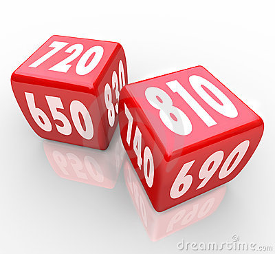 Free Credit Scores On Red Dice Royalty Free Stock Photo - 17856305