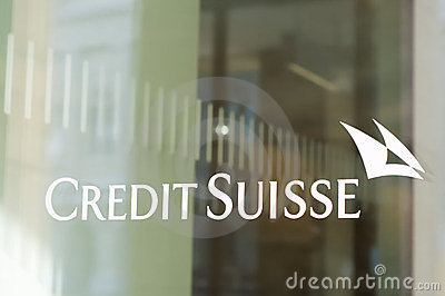 Credit Suisse Bank Branch Editorial Stock Photo