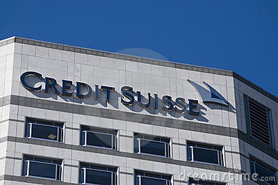 Credit Suisse HQ London Editorial Stock Image