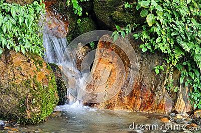 Creek flowing between rocks