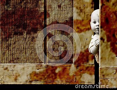 Creepy baby doll