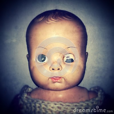 Free Creepy Doll Face Stock Photography - 29403152