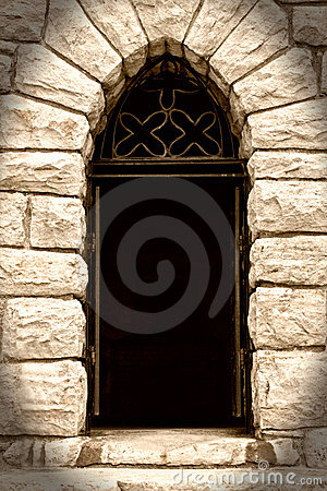 Free Creepy Doorway In Stone House Royalty Free Stock Photography - 11165927