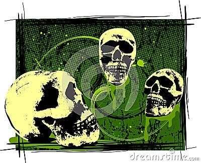 Creepy Halloween Skulls