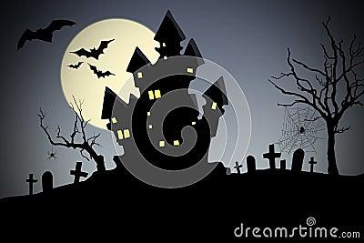 Creepy house - halloween