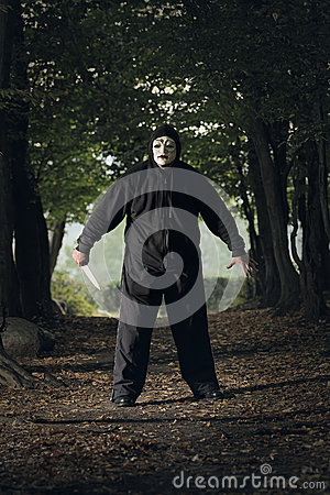 Creepy masked killer
