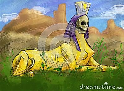 Creepy sphinx