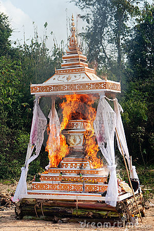 Cremation Buddhist Royalty Free Stock Photography Image