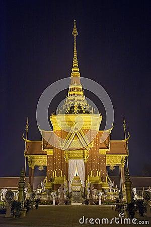 Cremation temple in phnom penh cambodia