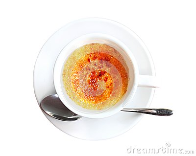 Creme Brulee In A Coffee Cup Royalty Free Stock Images - Image ...