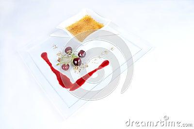 Creme Brulee - plate of fine dessert