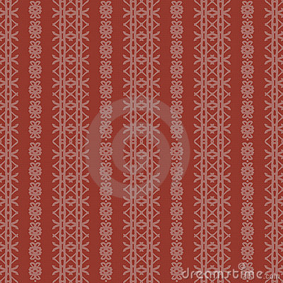 Creme and Red Rough Damask Seamless Pattern