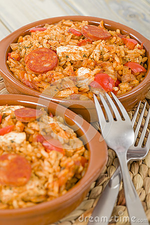 Creole Jambalaya - Rice cooked with chicken, smoked sausage and ...