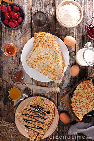 Free Crepe And Ingredient Royalty Free Stock Photo - 65274945