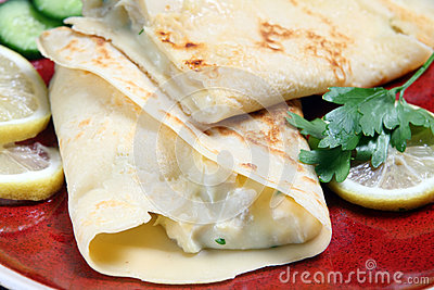 Crepe with chicken filling