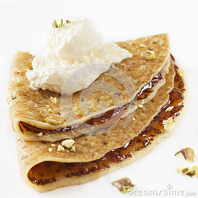 Crepe with Jam and Cream