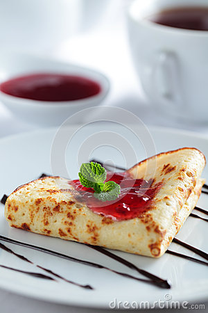 Free Crepe With Jam Stock Photo - 25322140