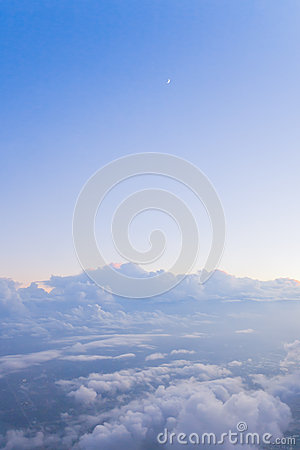 Free Crescent Moon And Clouds Stock Photos - 27593683