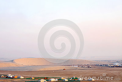 Crescent shaped barchan dune in Qatar