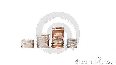 Crescimento da pilha da moeda. vídeos de arquivo
