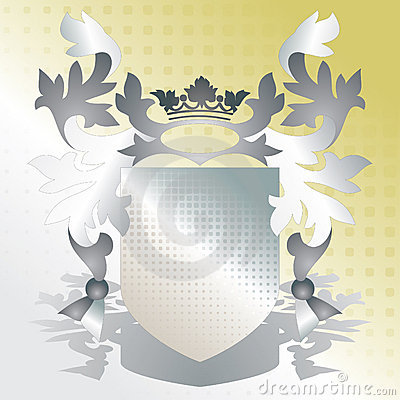 Crest element with raster